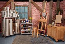 Art studio  / Art studio.  Goldsmith. Silversmith.  Jewelry studio. Workshop craft studio .