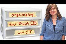 semi truck organizing