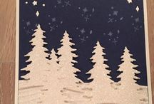 Christmas Pines cards