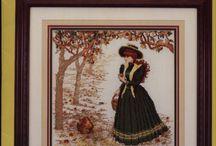 вышивка викторианский век