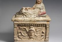 Etruscans Sarcophagi Urns Canopic Jars