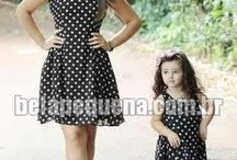 Fashion Mother and daughter