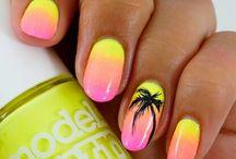 Nails фрукти літо комашки
