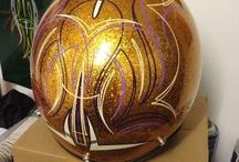 Pinstripe / kustom paint designs - helmets