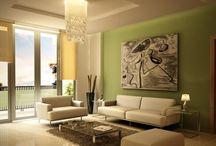 Obývací pokoj hnědá/zelená
