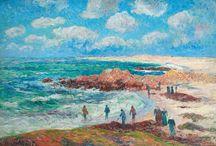 Tous à la plage / Haut lieu de villégiature estivale, terre aride ou contrée sauvage, les plages inspirent aux artistes leurs toiles les plus lumineuses. Sélection d'œuvres irradiantes adjugées depuis 2016.