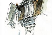 architecture doodles