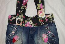 Handmade jean purse