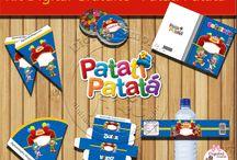 """KIT DIGITAL PATATI PATATÁ"" / Kit artes digitais gratuitas.  http://digitalsimples.blogspot.com.br/2015/08/kit-de-aniversario-gratuito-tema-patati.html"