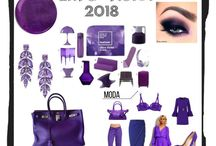 Pantone Colour of 2018.... Ultra Violet / Ultra Violet - the colour of 2018