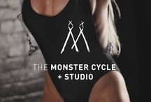 The Monster Cycle / Located in the heart of SoHo, New York, The Monster Cycle is a cycling workout and fitness experience that syncs the latest music videos with darkness & beats. This edgy studio is decked out in rotating graffiti, art, limited edition merchandise and fashion installations. saxoncampbell.com info@saxoncampbell.com