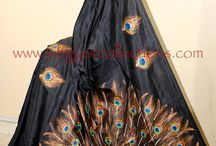 Onam Sarees / Mural HAND painted Sarees from God's own Country... Purchase them from www.vibgyorcollections.com
