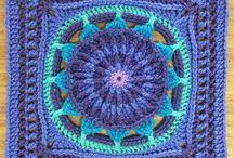 Granny square - crochet - crocheted square / Granny squares - crocheted squares