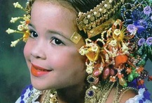 children in national costumes