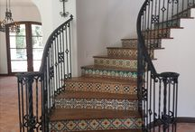 Stairs / Santa Barbara tiles evoke the California landscape, with a combination of vivid and subtle colors offset by neutrals and matte finishes. It is this combination of mattes and gloss finishes in a vast array of colors that tiles becomes rich, vibrantly alive, and harmonious.