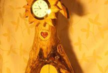 Fairy house clocks / Fairy house like clock, gnome house clock, dollhouse products