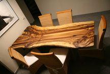Baumtische / Natürlich gewachsene und natürlich gelassene Tische für jeden Wohnbereich