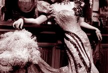 Saloon Girls - vintage / Seeking graphics and info about saloon girls of the old west? Check out these links and also my page about Saloon Girl Costumes (http://virginiaallain.hubpages.com/hub/dancehall-girl-costume)