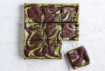 Matcha cheese cake brownies