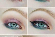 Make-up blue eyes :)