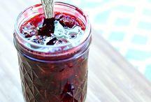 Homemade blackberry sauce