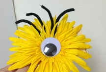 minion hair bow / by Eve Fosnaught Truong