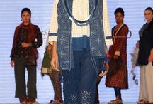 Weavers Studio collection at International Symposium / Workshop on Natural Dyes, Hyderabad / Weavers Studio's exclusive collection of naturally dyed ensembles in smart and wearable silhouettes at the fashion event.