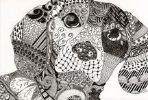 zentangle / black and white art