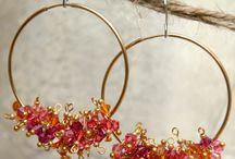 Beads earrings - orecchini di perline
