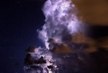 Lightning and clouds creating images
