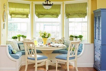 Next Project Idea!  / Building a breakfast nook (baywindow) bench in our kitchen! Let the planning begin!!  / by Bethany Cole