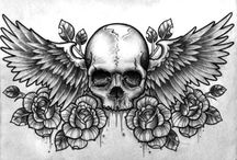 Time, Wing, Skull