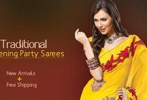 Evening party sarees