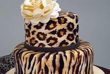 Animal Print Wedding Cakes