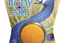 Body Paint / Mont Marte Body Art is ideal for makeup artists, children's parties, school fetes & festivals, sports fanatics and more.  Formulated from the highest quality cosmetic grade ingredients, it applies easily with a sable or taklon brush leaving rich and vibrant colours. Create stunning and intricate designs using the huge array of vivid colour selection.
