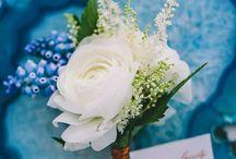 Indigo blue and copper wedding theme