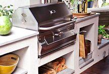 Nyári konyha / Faszénsütő