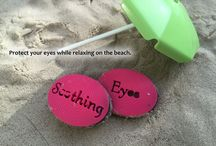 Soothing Eyes / Eye covers that block light for facials, skin treatment, or just relaxing on the beach.