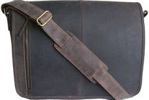 Men's Leather Messenger Bags / Simple, stylish and affordable men's leather messenger bags for a man