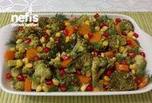 brokoli salatası mısırlı