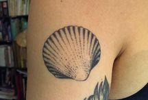 seashell tattoo
