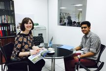 Lancaster University Representative visit... / On Tuesday, the 14th April 2015, Ms. Emma Carline, International Officer from Lancaster University met with aspiring students and their families at our office in Dubai.