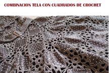 Haken / Jurkje van gecombineerd textiel en haken