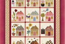 šití domečky