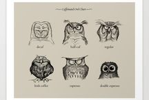 Owls / Owls and owl accoutrements of every shape and kind