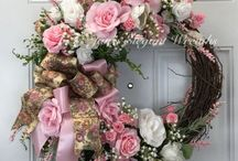 Flower door decoration