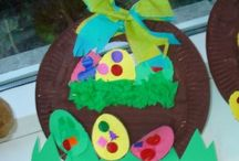Easter egg basket craft idea / this page has a lot of free Easter egg basket craft idea for kids,parents and preschool teachers.It's important to be aware of what is age-appropriate for children and be conscious of each child's particular sensitivities and level of understanding.