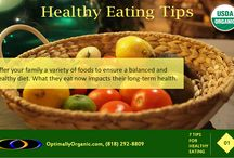 Healthy Eating Tips / Some tips for adopting a healthy lifestyle to live a long and happy life!
