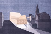 #Arch #Collages / Architectural graphics through collage techniques...