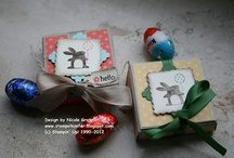 Boxes created with Stampin' Up